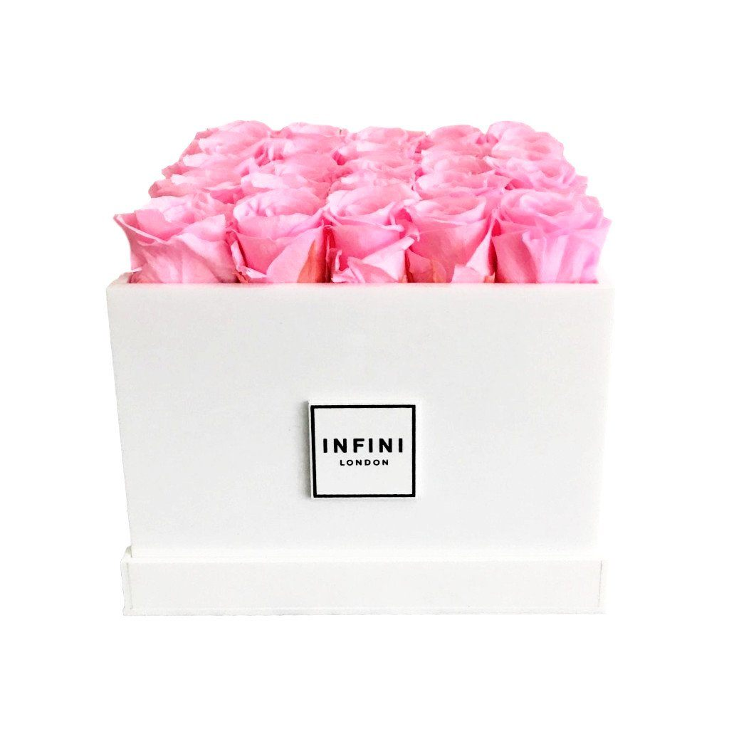 White Diamond - Pink Roses - INFINI roses that last a year