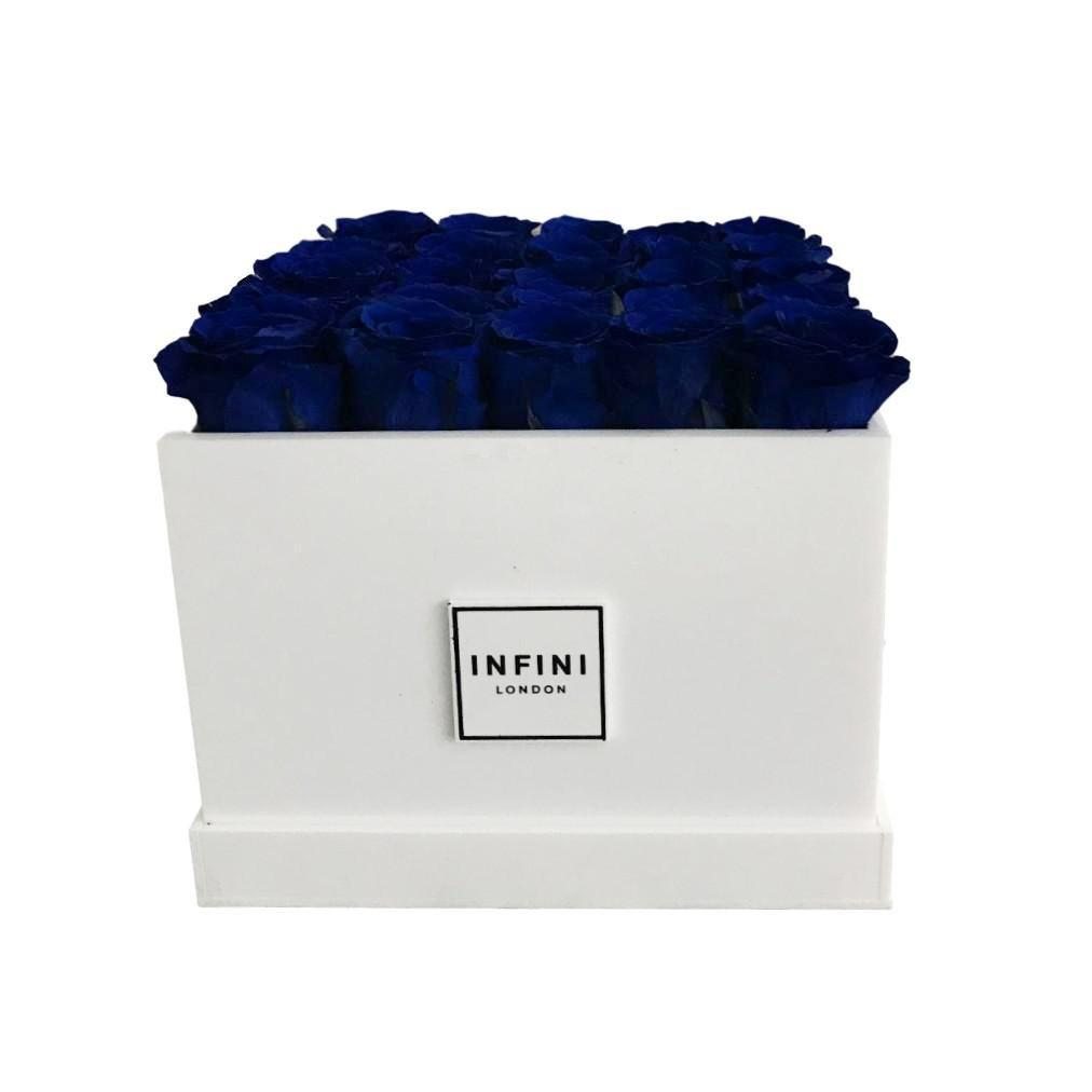 White Diamond - Navy Blue Roses - INFINI roses that last a year