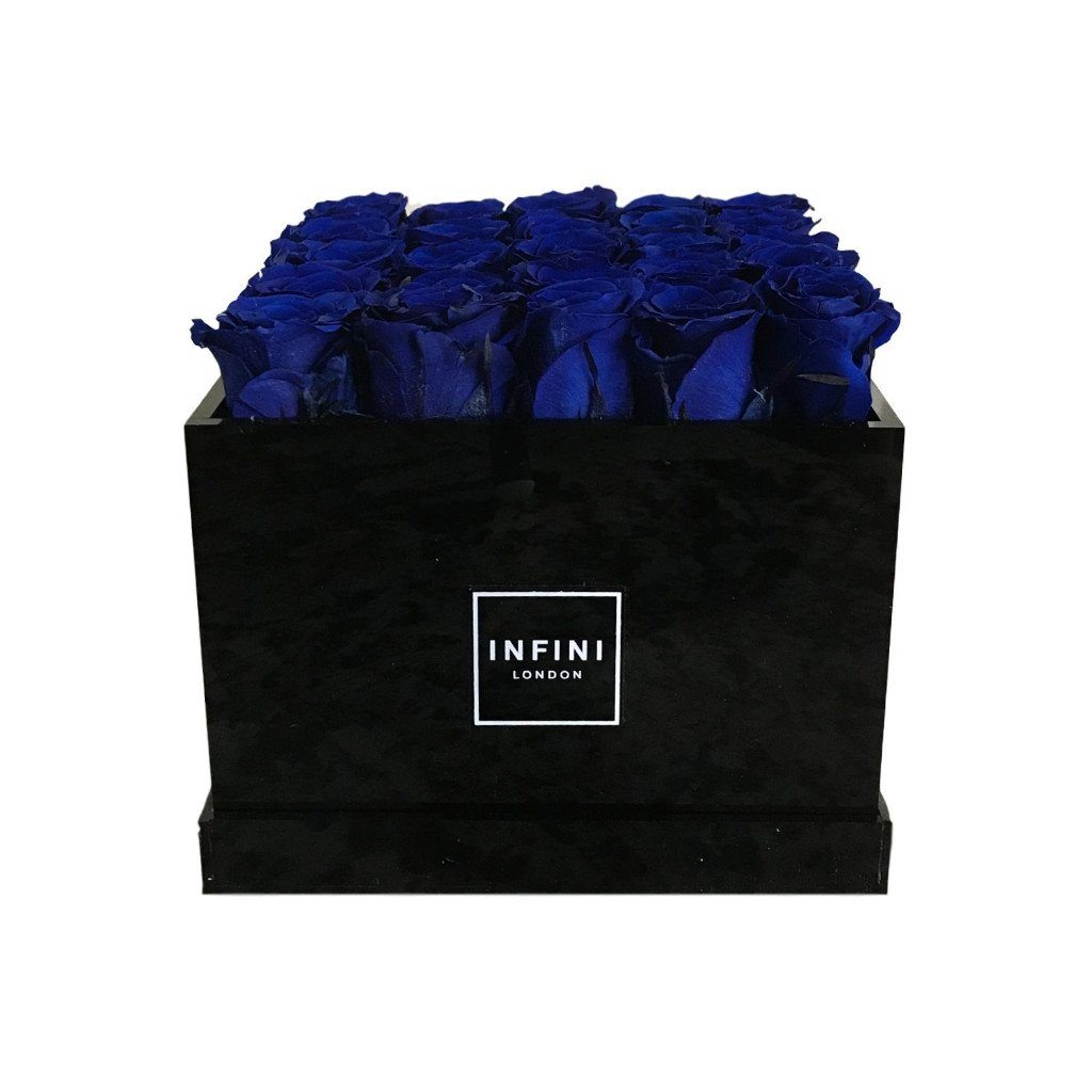 Black Diamond - Navy Blue Roses - INFINI roses that last a year