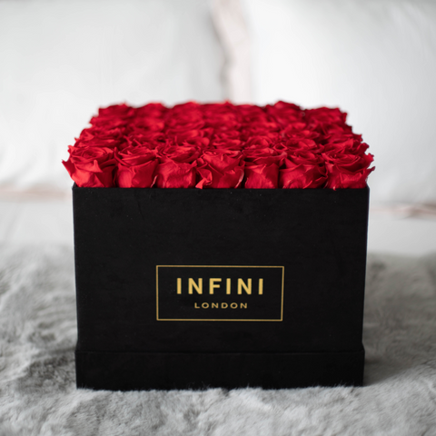 INFINI Cashmere Large Square Box - Black