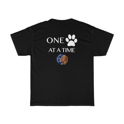 "Premium T-Shirt ""One Paw At A Time"" Dark Look"