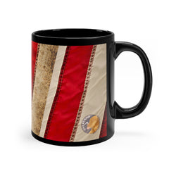Overland Dog Flag - Black mug 11oz