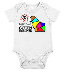 Love is a Sugar Faced Golden Retriever - Baby Onesie