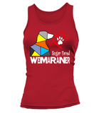 "Tank Top ""Love is a Sugar Faced Weimaraner"" Woman's Premium"