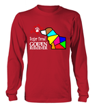 Red Long Sleeved T-Shirt Love is a Sugar Faced Golden Retriever