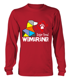 Red Long Sleeved T-Shirt Love is a Sugar Faced Weimaraner