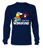 Navy Blue Long Sleeved T-Shirt Love is a Sugar Faced Weimaraner