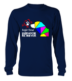 Navy Blue Long Sleeved T-Shirt Love is a Sugar Faced Labrador Retriever