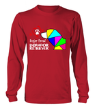 Red Long Sleeved T-Shirt Love is a Sugar Faced Labrador Retriever