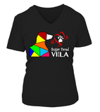 "V-Neck T-Shirt ""Love is a Sugar Faced Vizsla"" Woman's Premium"