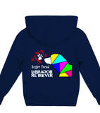 Children's Navy Blue Hoodie Love is a Sugar Faced Labrador Retriever