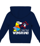 Navy Blue Children's Hoodie Love is a Sugar Faced Weimaraner