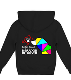 Children's Black Hoodie Love is a Sugar Faced Labrador Retriever