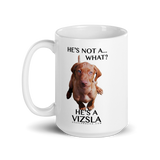 He's Not A What! He's A Vizsla - in Color - Mug