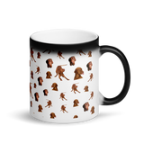 Glossy Black Vizsla Magic Mug