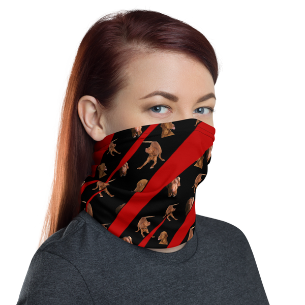 Neck Gaiter - Red Tiger Vizsla Style