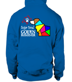 Royal Blue Hoodie Love is a Sugar Faced Golden Retriever
