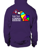 Purple Hoodie Love is a Sugar Faced Golden Retriever