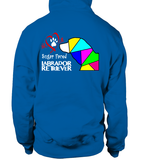 Royal Blue Hoodie Love is a Sugar Faced Labrador Retriever