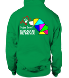 Irish Green Hoodie Love is a Sugar Faced Labrador Retriever