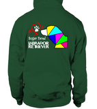 Bottle Green Hoodie Love is a Sugar Faced Labrador Retriever