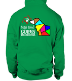 Irish Green Hoodie Love is a Sugar Faced Golden Retriever