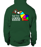 Bottle Green Hoodie Love is a Sugar Faced Golden Retriever