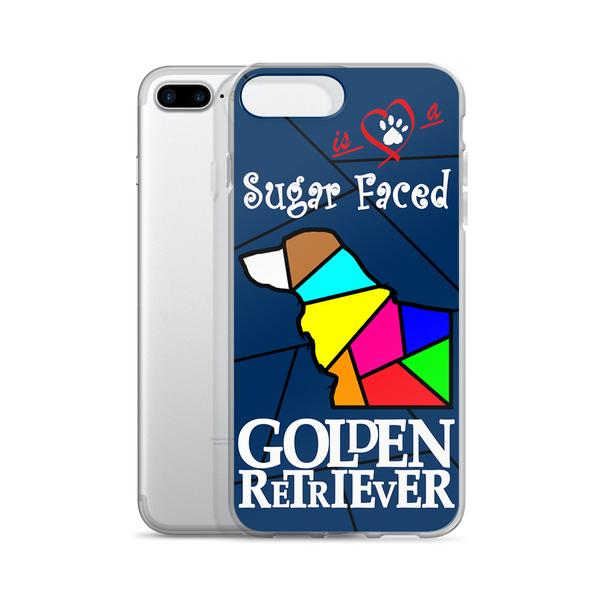 Love is a Sugar Faced Golden Retriever - iPhone 7/7 Plus Case