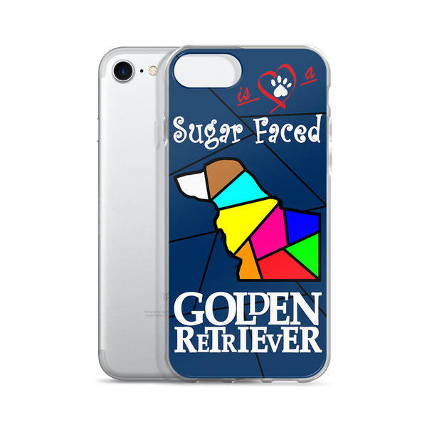 Love is a Sugar Faced Golden Retriever - iPhone 5/5s/Se, 6/6s, 6/6s Plus Case