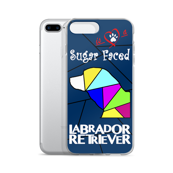 Love is a Sugar Faced Labrador Retriever - iPhone 7/7 Plus Case