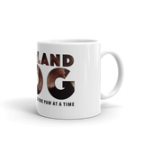 11oz Labrador Retriever Mug - Covering the World One Paw at a Time - Side View