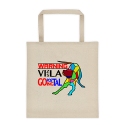 "Tote bag ""WARNING Vizsla Going Postal"" Premium"