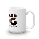 15oz Labrador Retriever Mug - Covering the World One Paw at a Time - Side View 2