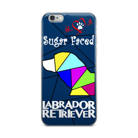 Love is a Sugar Faced Labrador Retriever - iPhone 5/5s/Se, 6/6s, 6/6s Plus Case 3