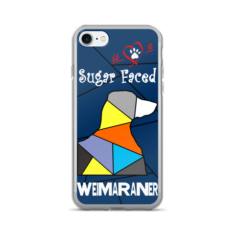 Love is a Sugar Faced Weimaraner - iPhone 7/7 Plus Case 2