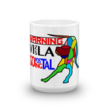 15oz Mug WARNING Vizsla Going Postal