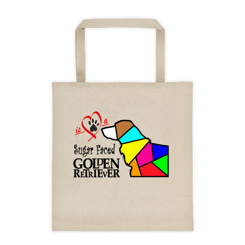 "Tote bag ""Love is a Sugar Faced Golden Retriever"" Premium"
