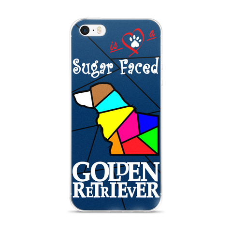 Love is a Sugar Faced Golden Retriever - iPhone 5/5s/Se, 6/6s, 6/6s Plus Case 2