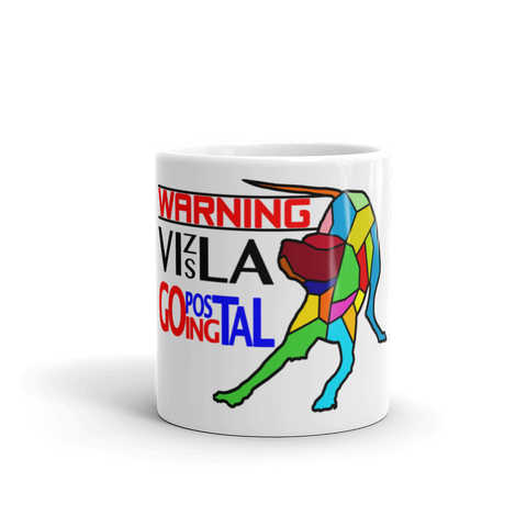 11oz Mug WARNING Vizsla Going Postal 3