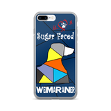 Love is a Sugar Faced Weimaraner - iPhone 7/7 Plus Case 3