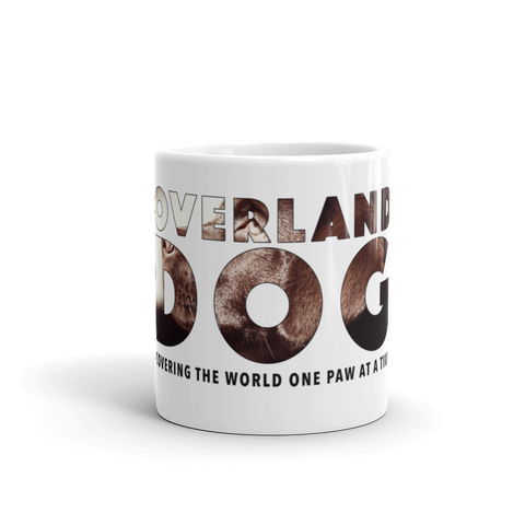 11oz Labrador Retriever Mug - Covering the World One Paw at a Time - Side View 3