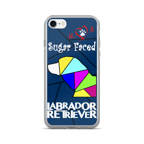 Love is a Sugar Faced Labrador Retriever - iPhone 7/7 Plus Case 2