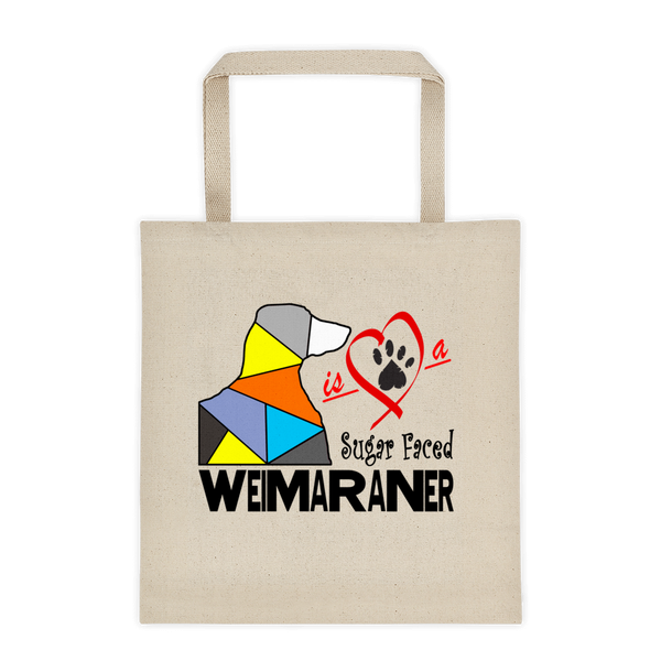 "Tote bag ""Love is a Sugar Faced Weimaraner"" Premium"