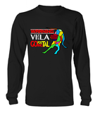 Black Long Sleeved T-Shirt Warning - Vizsla Going Postal