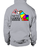 Sport Grey Hoodie Love is a Sugar Faced Golden Retriever