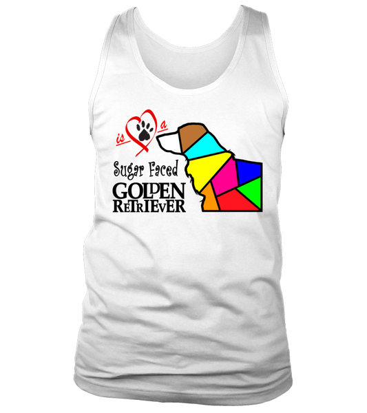 "Tank Top ""Love is a Sugar Faced Golden Retriever"" Premium"