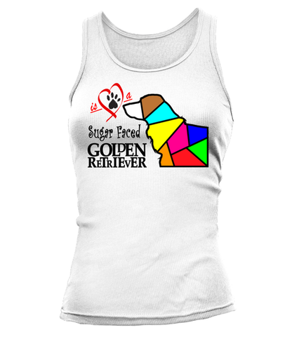 "Tank Top ""Love is a Sugar Faced Golden Retriever"" Woman's Premium"