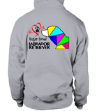 Sport Grey Hoodie Love is a Sugar Faced Labrador Retriever