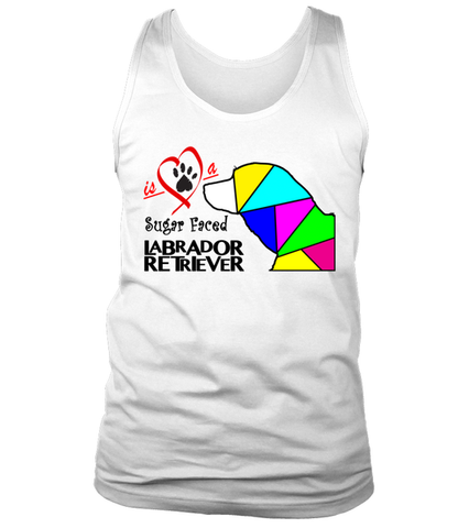 "Tank Top ""Love is a Sugar Faced Labrador Retriever"" Premium"