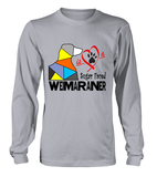 Sport Grey Long Sleeved T-Shirt Love is a Sugar Faced Weimaraner